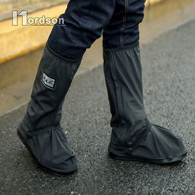Waterproof Non-slip Motorcycle Cycling Bike Rain Boot Shoes Covers for Scooter L