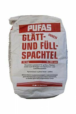 Pufas glaett- and Filler 10kg Smoothing trowel Wall Putty putty