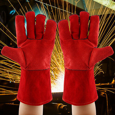 15'' Cowhide Mig Welding Gloves Welder's High Temperature Resistance Work Gloves