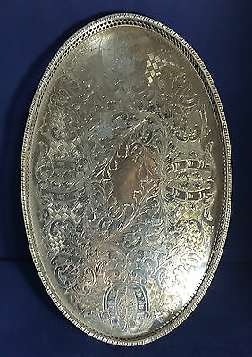 Beautiful Vintage Heavy Silver plated Gallery Tray by Viners of Sheffield