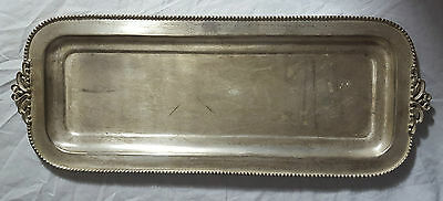 Beautiful Silver Toned Plated Tray. Width 50.5 cm