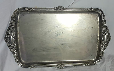 Beautiful Vintage Heavy Silver Plated Tray