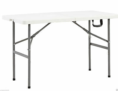 Folding Table 4Ft Picnic Camping Bbq Banquet Garden Party Market New 175Kg Limit
