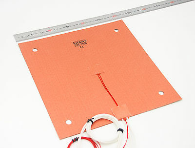 KEENOVO Silicon Heater 310x310mm for Creality CR-10 3D Printer Bed w/Screw Holes