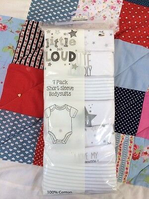 6-9 Months Pack Of 7 Baby Vests / Suits
