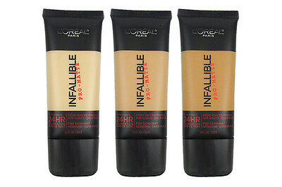 L'oreal Infallible Pro-Matte 24Hr Foundation New & Sealed Please Select Shade 1
