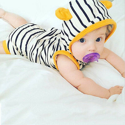 Newborn Infant Baby Girls Boys Outfit Set Clothes Jumpsuit Bodysuit Tops+Pants