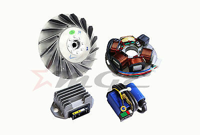 Flywheel + Stator + Regulator + CDI Kit Vespa 125 150 200 PX PE LML 12V
