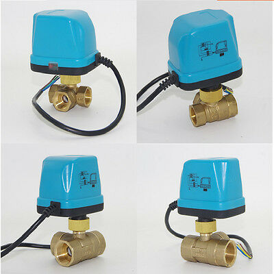 Motorized Ball Valve 3 Way BSP DN15-25 G1/2''-1'' 220V Electric