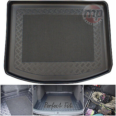 Perfect Fit Black Durable Boot Liner Mat Tray Tailored for VW Touran (2003-2015)