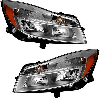 Halogen Headlights Headlight Assembly Pair Set NEW  for 11-14 Buick Regal