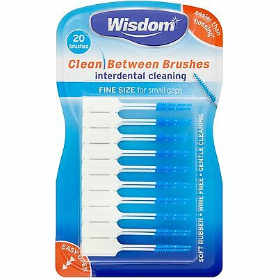 Wisdom Clean Between Interdental Brushes FINE BLUE Size CHOOSE AMOUNT