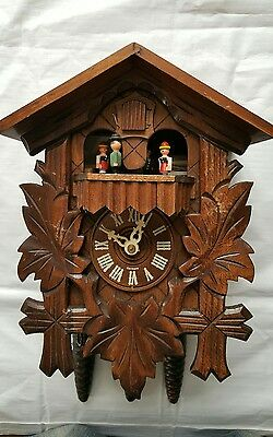 Mapsa Swiss Cuckoo Clock Musical Movement Black Forest Working Order