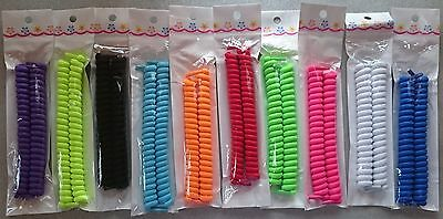 Curly Elastic Shoelaces  No Tie Shoe Laces Trainer Kids Adults Disability Aid UK