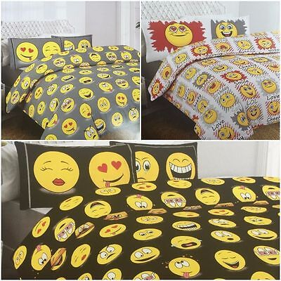 Emoji Bedding Set Duvet Pillowcase Set All Sizes Expressions Emoticons