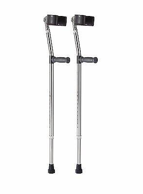 Medline Aluminum Forearm Crutches, Adult