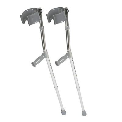 Medline MDS805160 Aluminum Forearm Crutches, Tall Adult Pair of 2 Crutches