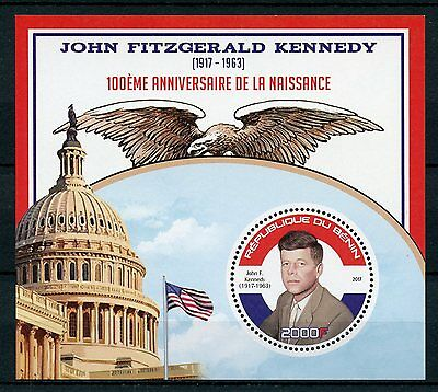 Benin 2017 MNH JFK John F Kennedy 100th Birthday 1v S/S US Presidents Stamps