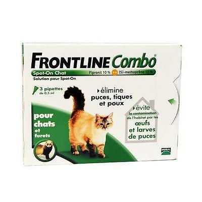 Merial Chats FRONTLINE COMBO Chat 3pip Anti puce anti tique