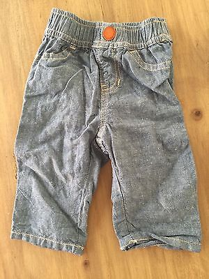Country Road Baby Boy Pants Chambray Denim Style 0-3 Months