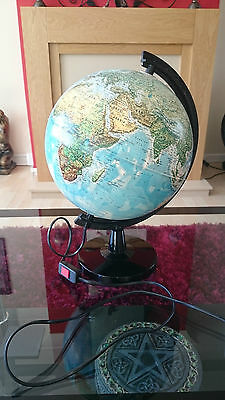 World Atlas Globe Rotating Lamp 32In Circumference