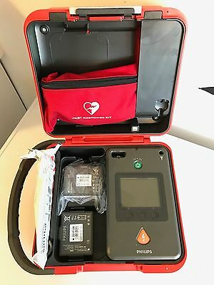 Philips FR3 AED Heartstart Defibrillator Sealed Battery + Sealed Pads + Case