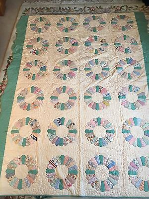 1938 Signed Hand Stitched Quilt Blanket