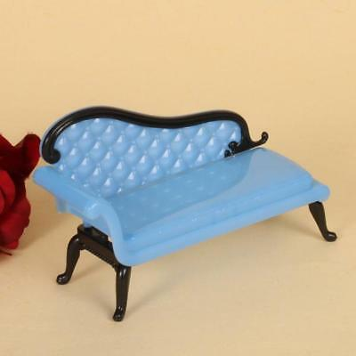 Mini Dollhouse Furniture Plastic Chaise Lounge for Barbie Ken Doll Sofa Toy