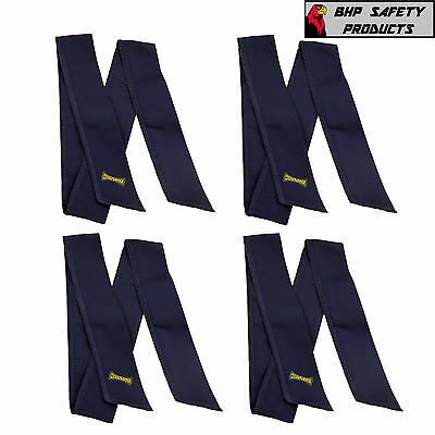 Heat Stress Gear Sports And Construction Navy Miracool Cooling Bandanas (4 Pack)
