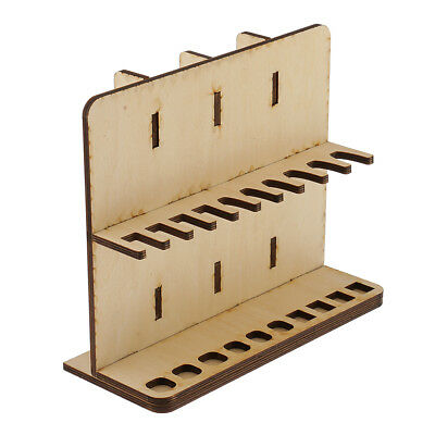 Wooden Leathercraft Stamp Tools Rack Stand Household Tools Holder Organizer