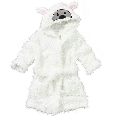 Animal Crazy Childs Boys Girls Sheep Bath Robe Dressing Gown Supersoft Fleece