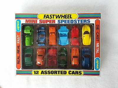Playart Minni Speesters, 12 Autos in Box 70er J. OVP