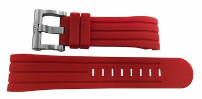 TW Steel Grandeur Tech 48mm Red Silicone Watch Strap - 24mm