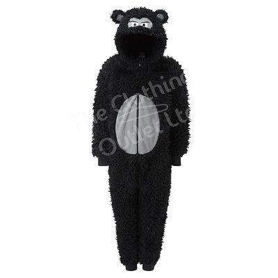 World Book Day Gorilla 1Onesie Onezi Boys Character Supersoft Fleece Jumpsuit