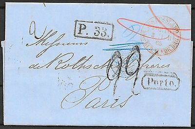 Russia covers 1865 folded letter St.Petersburg to Paris