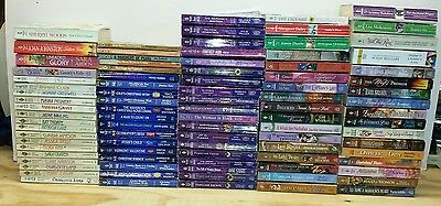 Lot of 90 Harlequin Romance novels mainly 1980s - 2000s paperback mixed authors