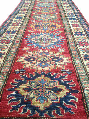 Rare Vegetable Dyes Caucasian Kazak Carpet Runner Rug 6x2 ft