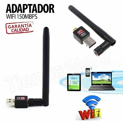 Antena WIFI USB adaptador Wireless 150 Mbps LAN WI-FI Potencia LARGO ALCANCE