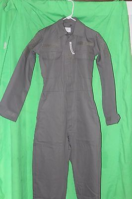 """COVERALLS, US MILITARY, SAGE Green  62""""L Cotton W/Velcro for patches, New W/tags"""