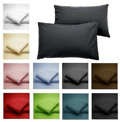 Luxury 100% Egyptian Cotton Pillow Case Cases 200 Thread Count Hotel Quality