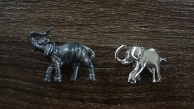 Small Elephant Collectible Figurines! Silver Nickel Pewter??? Approx 2""