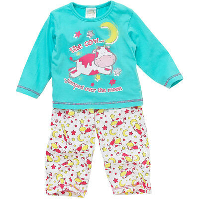 Lullaby Baby Girls Cow Jumped Over The Moon Long Sleeve Cotton Pyjamas 6-23mths