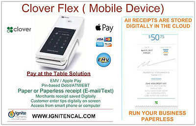 New First Data Clover Pos Flex  (Moble device)