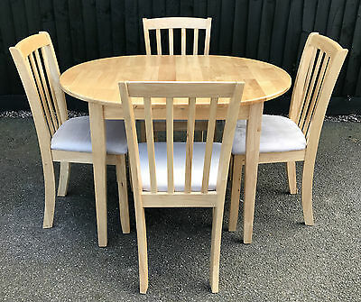 Extending Kitchen Table + 4 Chairs | Solid Pine