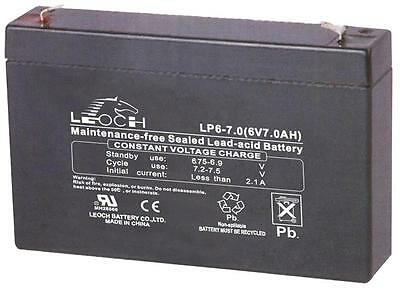 BATTERY LEAD ACID AGM 6V 7AH Batteries Rechargeable
