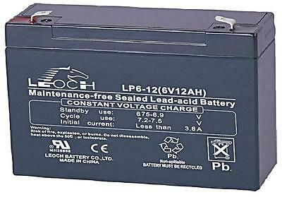 BATTERY LEAD ACID AGM 6V 12AH Batteries Rechargeable