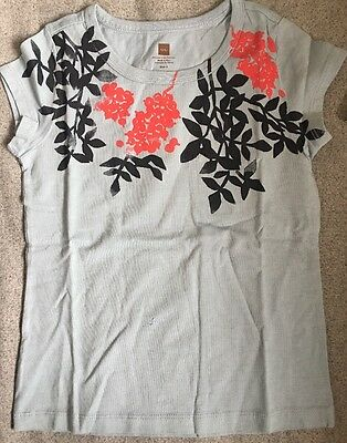 NEW NWT Tea Collection Mulberry Graphic Tee Top Blue Size 6 $24!