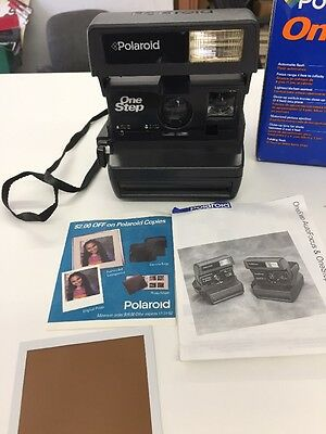 Polaroid One Step Instant Camera With Original Paperwork And Box For 600 Film