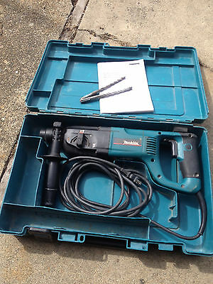 Makita Rotary Hammer Drill HR2455 with case and drill bits x2