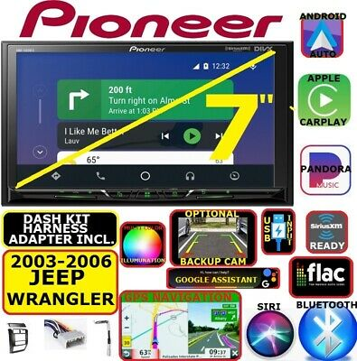 03-06 Jeep Wrangler Nav Bluetooth Usb Carplay Android Auto Car Radio Stereo